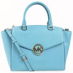 Designer Handbags Rescue - Michael Kors Hudson Large Satchel| NEW, $264.95 (http://www.designerhandbagsrescue.com/michael-kors-hudson-large-satchel-aquamarine-handbag-outlet-sale/)