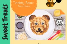 Pancake Tuesday is just around the corner. Check out this super healthy recipe video for pancakes that are quick. Healthy Recipe Videos, Super Healthy Recipes, Banana Pancakes, Food Videos, Sweet Treats, Teddy Bear, Tasty, Baking, Pancakes