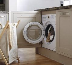 1600rpm Integrated Washing Machine Howdens Tewkesbury Framed Stone Machines In Kitchen