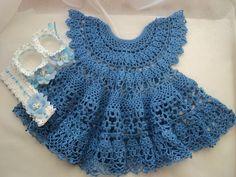 Нарядное ажурное платье для малышки - 1 Вязание для малышей - Детская одежда - Каталог альбомов - SANA петелька