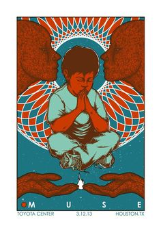 Muse gig poster byJermaine Rogers
