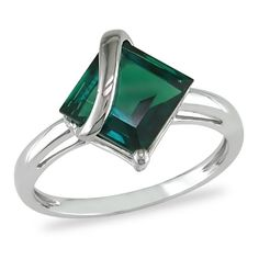 2.5 ct.t.w. Created Emerald Ring in 10k White « Holiday Adds