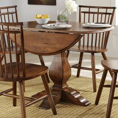 Upgrade your home with the Liberty Furniture Industries Creations II Round Drop Leaf Dining Table , for a set you'll be happy to sit around even. Round Pub Table, Formal Dining Tables, Table And Chairs, A Table, Butterfly Leaf Table, Pedestal Table Base, Table For Small Space, Liberty Furniture, Drop Leaf Table