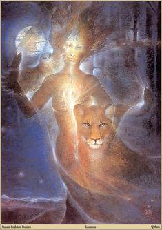 Susan Seddon Boulet - lioness...sure looks like the jaguar in Angel of The Maya...