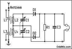 Figure 1. High performance crystal detector radio [5 KB]