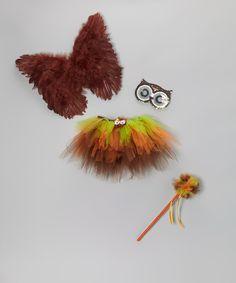 Brown & Green Owl Tutu Set - Toddler & Girls   What a Cute Gift!