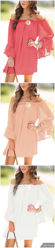 Bateau Flared Sleeves See Through Chiffon Mini Dress with No Belt