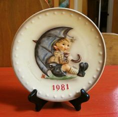 Hummel 1981 Hand Painted Annual Plate. $12.00, via Etsy.