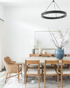 6 Small Living Room Design Tips and Ideas - Des Home Design Woven Dining Chairs, Dining Room Chairs, Dining Room Furniture, Space Furniture, Furniture Ideas, Dining Room Inspiration, Home Decor Inspiration, Casa Milano, Home Interior
