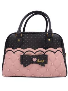 SWIMMER brand pink quilted purse