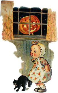 Spooky Jack in the Window, Postcard
