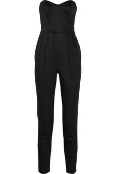 Milly Strapless matte-satin jumpsuit $395 http://www.net-a-porter.com/product/404108
