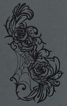 549204_Gothic Gala - Roses design (UT7019) from UrbanThreads.com