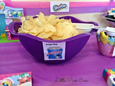 Crispy Chip Shopkins for a Shopkins Birthday Party on a Budget! #Shopkins #ShopkinsBirthdayParty #CrispyChip
