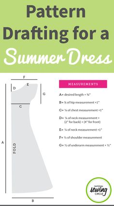 Finding a summer dress that fits your specific body measurements perfectly can be tricky- so this year, make one instead! Ashley Hough shares pattern drafting tips and shows you how to draft an easy summer dress pattern based on your own measurements.