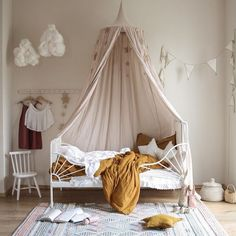 Kids' Room Inspo from one of our partners - toddler room ideas Baby Bedroom, Nursery Room, Girls Bedroom, Toddler Rooms, Ikea Toddler Bed, Kids Room Design, Little Girl Rooms, Kid Spaces, Baby Cribs