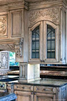 Kitchen cabinet color.