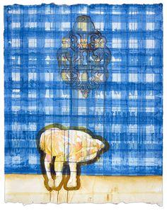 Maurice Christo van Meijel: zonder titel (2005) inkt op papier, 97 x 77 cm. (collectie Akzo Nobel)