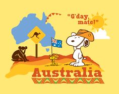 Snoopy in Australia. Take me back!