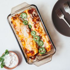 Liven up your date night with this small batch of enchiladas that's perfectly portioned for two.