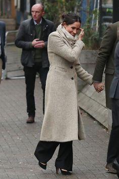 Meghan Markle Just Wore an Amazing Stella McCartney Coat in Wales - HarpersBAZAAR.com