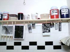A bathroom darkroom.