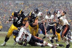 "Jerome ""The Bus"" Bettis against the Chicago Bears on his way to a Super Bowl run towards XL."
