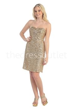 Short Homecoming Prom Cocktail Dress Sale - The Dress Outlet - 1