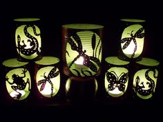 Great Outdoor lighting from parties to weddings. Recycled food cans. Trash to Treasure!!!
