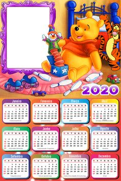 Winnie the Pooh Calendar 2019 Frame Photo Montage Free Online
