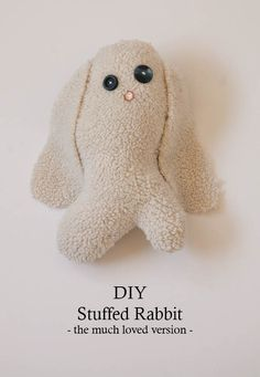 DIY Stuffed Rabbit - Nearly Crafty - nearlycrafty.com/...