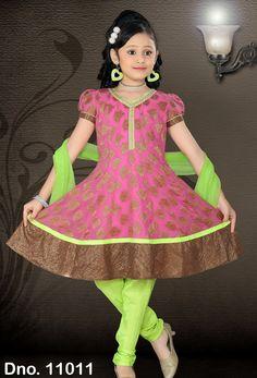 #Readymade Neon #Green #Net #Anarkali Suit