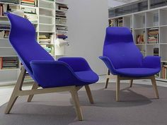 Home Design and Interior Design Gallery of Blue Modern And Comfortable Lounge Chair