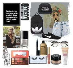 """Random af 4"" by skateisbae ❤ liked on Polyvore featuring Maybelline, NYX, NIKE, Huda Beauty, Topshop, Boohoo, Chictopia, philosophy, Americanflat and Vans"
