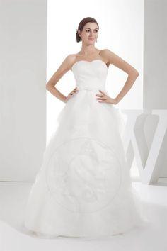Leben schulterfreier Ausschnitt Brautkleid mit offenen Rücken - Bild 1