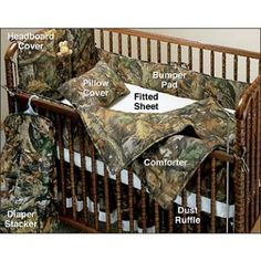 Mossy Oak Camouflage Crib Set - Mossy Oak or Realtree Crib Set - Camo Baby Bedding - Baby & Kids Camouflage Baby, Baby Boy Camo, Camo Baby Stuff, Baby Baby, Lil Boy, 3rd Baby, Baby Boy Rooms, Baby Cribs, Kids Rooms