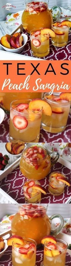 Peach Sangria This is a quick and easy alcoholic peach punch/sangria recipe that is fresh and fruity.This is a quick and easy alcoholic peach punch/sangria recipe that is fresh and fruity. Alcohol Drink Recipes, Sangria Recipes, Cocktail Recipes, Margarita Recipes, Punch Recipes, Punch Sangria, Smoothies, Alcoholic Punch, Gastronomia
