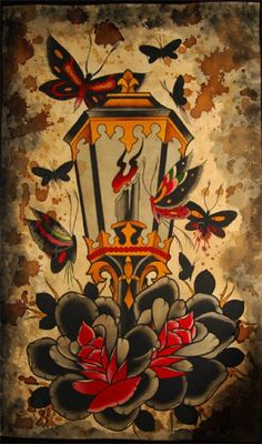Old school tattoos, images and fans. Submit your old school/traditional tattoo photos and images! Neotraditionelles Tattoo, Tatto Old, Body Art Tattoos, Sleeve Tattoos, Leg Tattoos, Traditional Tattoo Old School, Traditional Tattoo Design, Traditional Tattoo Flash, Tattoo Sketches