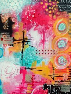 The Kathryn Wheel: Messy journal play. And other stuff. Art journal inspiration