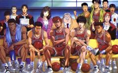 Anime e Manga / Slam Dunk / Personaggi / Shohoku / Gruppo / shohoku Slam Dunk Manga, Kuroko, Basketball Anime, Anime Dvd, Kaichou Wa Maid Sama, Handsome Anime, Girl Running, Anime Shows, Baseball