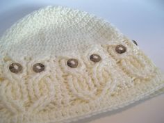 Owl hat crochet pattern