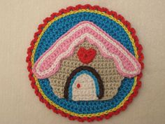 Christmas ornament applique motif gingerbread by Millionbells