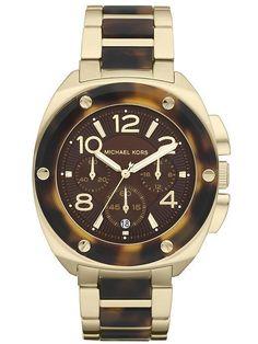 Michael Kors Women\u0027s Chronograph Tribeca Gold-Tone Stainless Steel and  Tortoise Acetate Bracelet Watch - Watches - Jewelry \u0026 Watches - Macy\u0027s