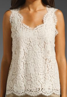JOIE Cina Lace Tank in New Moon at Revolve Clothing - Free Shipping!