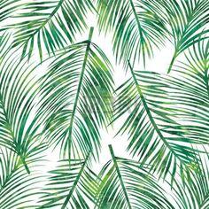 dessin feuillage: Vector illustration de palmier feuille verte seamless
