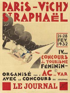 Paris-Vichy-St.Raphaël - Concours de tourisme féminin - 193é - (Marc Thévenet) -