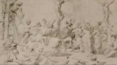 THE CRUCIFIXION. pen and wash of bistro. 17,8 × 25,2 cm. Lipsia. Museum der Bildenden Kunste. Nicolas Poussin, Pen And Wash, Roman, Museum, Outdoor, Outdoors, Outdoor Games, The Great Outdoors, Museums