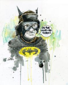 Old Batman by Lora Zombie