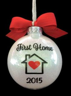 First Home Ornament Our First Home Christmas Ornament Personalized Custom Ornament Housewarming Gift New Home First house Home Vinyl Ornaments, Photo Ornaments, Personalized Christmas Ornaments, Diy Christmas Ornaments, Christmas Balls, Christmas Projects, Custom Ornaments, Cheap Ornaments, Christmas Tree