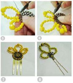 www.silviafrannis.com web weblog.aspx?articulo=35 Bobby Pins, Crochet Necklace, Hair Accessories, Beads, Handmade, Crafts, Jewelry, Craft Ideas, Hair Combs